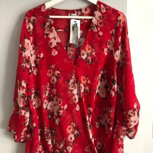 KUT from the Kloth red blouse